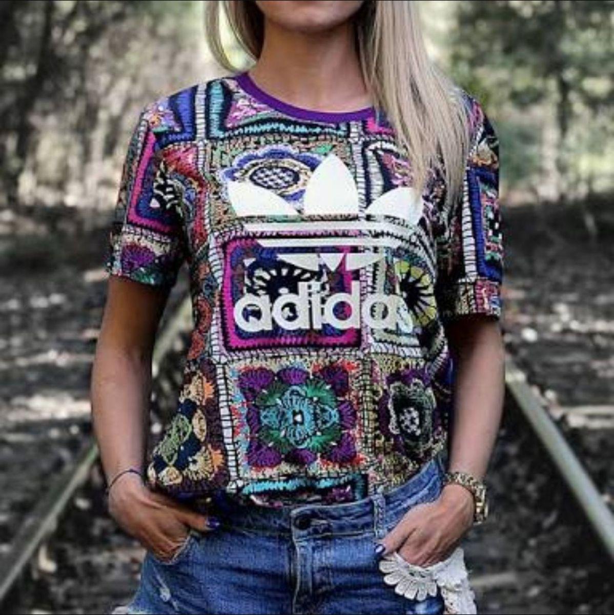 último vendedor caliente de calidad superior mujer Crochita Farm Adidas   Camiseta Feminina Farm Nunca Usado 23674210 ...