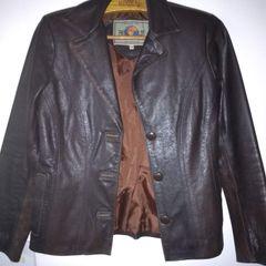 dbfd70e72d jaqueta de couro legítimo marrom café