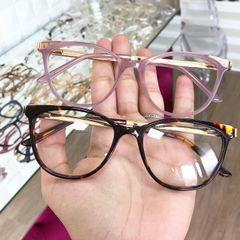 b39e152e6 frete grátis. óculos armação para grau tigrado onça ou lilas
