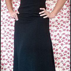 0eba81dc06 Vestido longo seda preto festa casamento - bolsa sandália acessórios