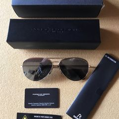 6d6cea9a9 óculos de sol porsche design preto aviador / comprado em bahamas nassau