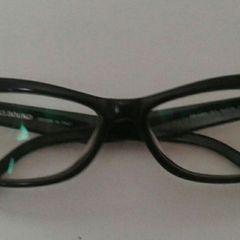 e9e3cd4a1 armação acetato preto gatinha para óculos de grau spellbound italiano