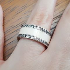 004e927910e4a anel prata 925 feminino esmaltado rosa claro com zircônias aro 13 joia  delicada