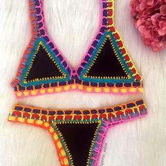 57cf3ecb47c1 biquíni de crochê neon perfeito lançamento moda praia 2020