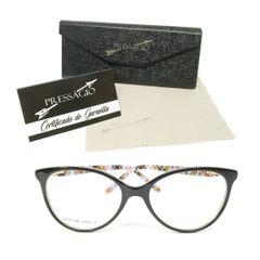 7143a9975 óculos armação de grau acetato gatinho geek redondo preto com detalhes  coloridos psg-892