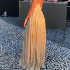 5debba92e Vestido De Festa Longo Dourado | Comprar Vestido De Festa Longo ...