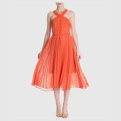 f5e25ff145 vestido midi plissado - bcbg maxazria