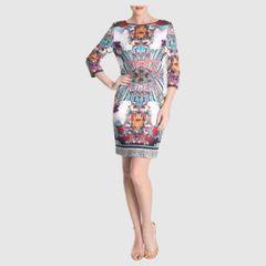 d72255f6d1 vestido estampado de neoprene clover canyon