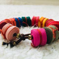 9d6cb012a9 pulseira para quem curte tecido