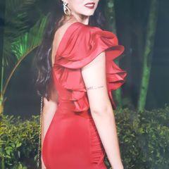 68fa0fd07377 Vestido Festa Vermelho Casamento Formatura Madrinha | Comprar ...