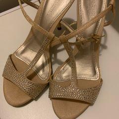 7e2450fa2c sandália de festa dourada andarella tamanho 33