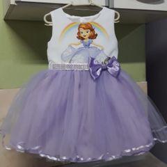 0d5d093681 vestido princesa sofia - tamanho 2 infantil - pronta entrega