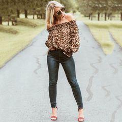 5da9973a0c blusa feminina ciganinha animal print oncinha