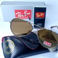 349cd80a0 óculos de sol aviador 3026 super fino espelhado dourado lançamento masculino  e feminino