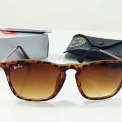 c8f9465e5 óculos de sol ray ban chris oncinha tartaruga feminino quadrado importado