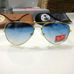 6d37a56f9 óculos ray-ban aviador azul degradê 3026 metal dourado feminino e masculino  envio imediato