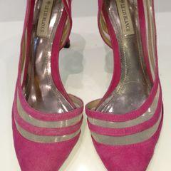 8e8100ef7 sapato scarpin rosa/pink com tela le lis blanc de couro - lindissimo!