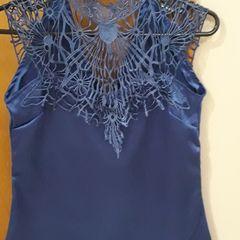 da96f3d775 blusa cetim azul royal com renda