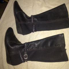 187c40498e bota cano alto modare anabela feminino - preto
