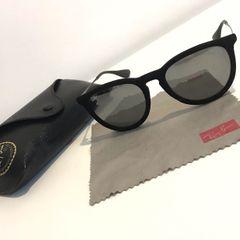 7d86fd7be óculos ray ban espelhado- modelo erika preto aveludado