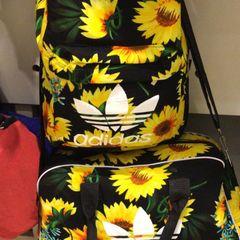 3d7865c7b mochila e bolsa de viagem adidas e farm, lindas! novas!