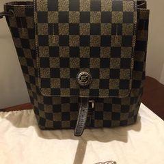 3ba406b62 mochila em couro xadrez marca victor Hugo