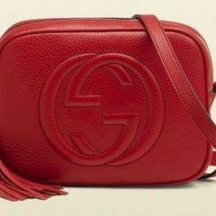 e7c9cd64d bolsa gucci soho disco bag vermelha feito na itália original 100% couro  novíssima