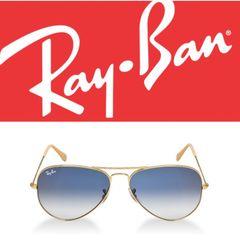 7f3fb3fab óculos ray ban aviador rb 3026 dourado azul degradê original