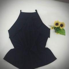 b032120e78 Blusa De Seda Azul Marinho