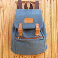 afcf9130d Mochila Lona Couro | Comprar Mochila Lona Couro | Enjoei