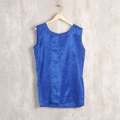 4ab34b495b Blusa Azul Royal Cetim