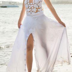 a9712cecf4 vestido branco pre wedding com 2 saias ( longa e curta)