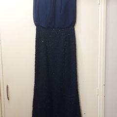 Vestido Casamento Madrinha Formatura Festa Azul Longo