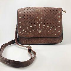 39482ba60 bolsa feminina tiracolo média importada promoção couro ecológico - marrom