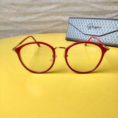 3367a8757 óculos de grau armação brugui redondo vermelho blogueira