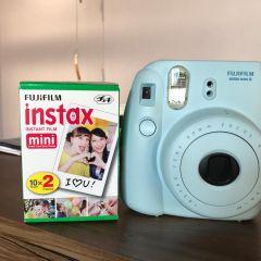8b09048f7983d fujifilm instax mini 8 azul + filme 20 fotos