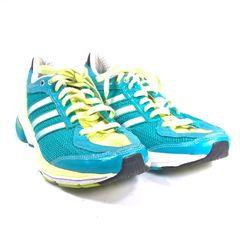 1796d9213c94b tênis azul tiffany e verde claro adizero boston 7 adidas