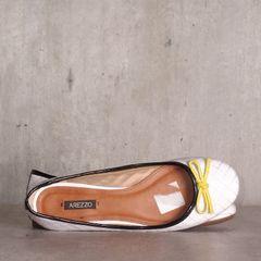 4f1b6c9472 sapatilha branca com laço amarelo arezzo