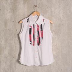 89314a3e0f frete grátis. camisa branca estampada rogério costa