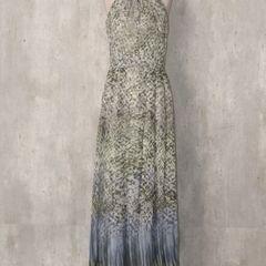 aadca10f7e Vestidos Longo Estampados De Chiffon