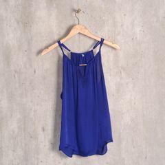 2381fb19d8 blusa de cetim azul royal