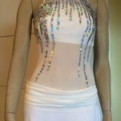 e8a98f2c44 vestido sereia prateada m