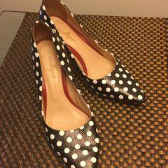d0ef715027 Sapato Salto De Bolinhas