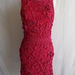 2a0ca3efc Vestidos De Tecido Com Croche   Comprar Vestidos De Tecido Com ...