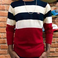 b471a61df2 suéter (p) masculino listrado lacoste live cód  1d36234