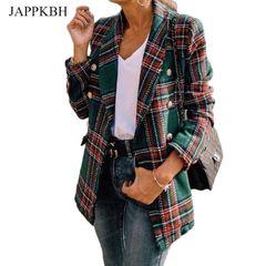 e59176990a blazer xadrez oversized de lã