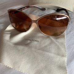 255bfe57b25fe Tom ford - lindo óculos sol tom ford novo original metal dourado marrom