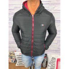 7dbbf0c0a804c jaqueta Masculina lacoste acolchoada preta e vermelha