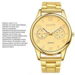 3b7de084f lindo relógio feminio, dourado, novo
