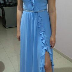 4ab4f7617 vestido longo azul madrinha casamento festa formatura